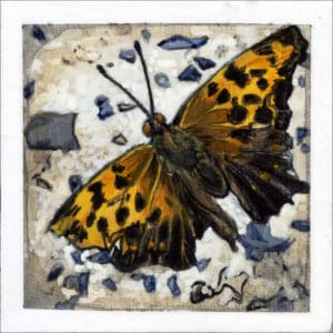 painting of a butterfly on concrete
