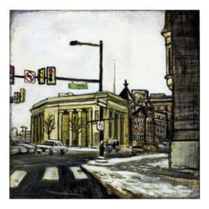 painting of North Broad Street in Philadelphia Pennsylvania