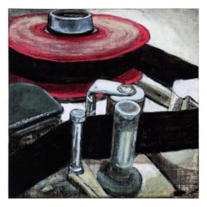 painting of a two-inch tape machine